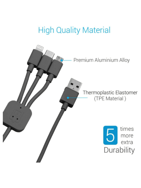 PORTRONICS CABLE KONNECT TRIO 3 IN 1