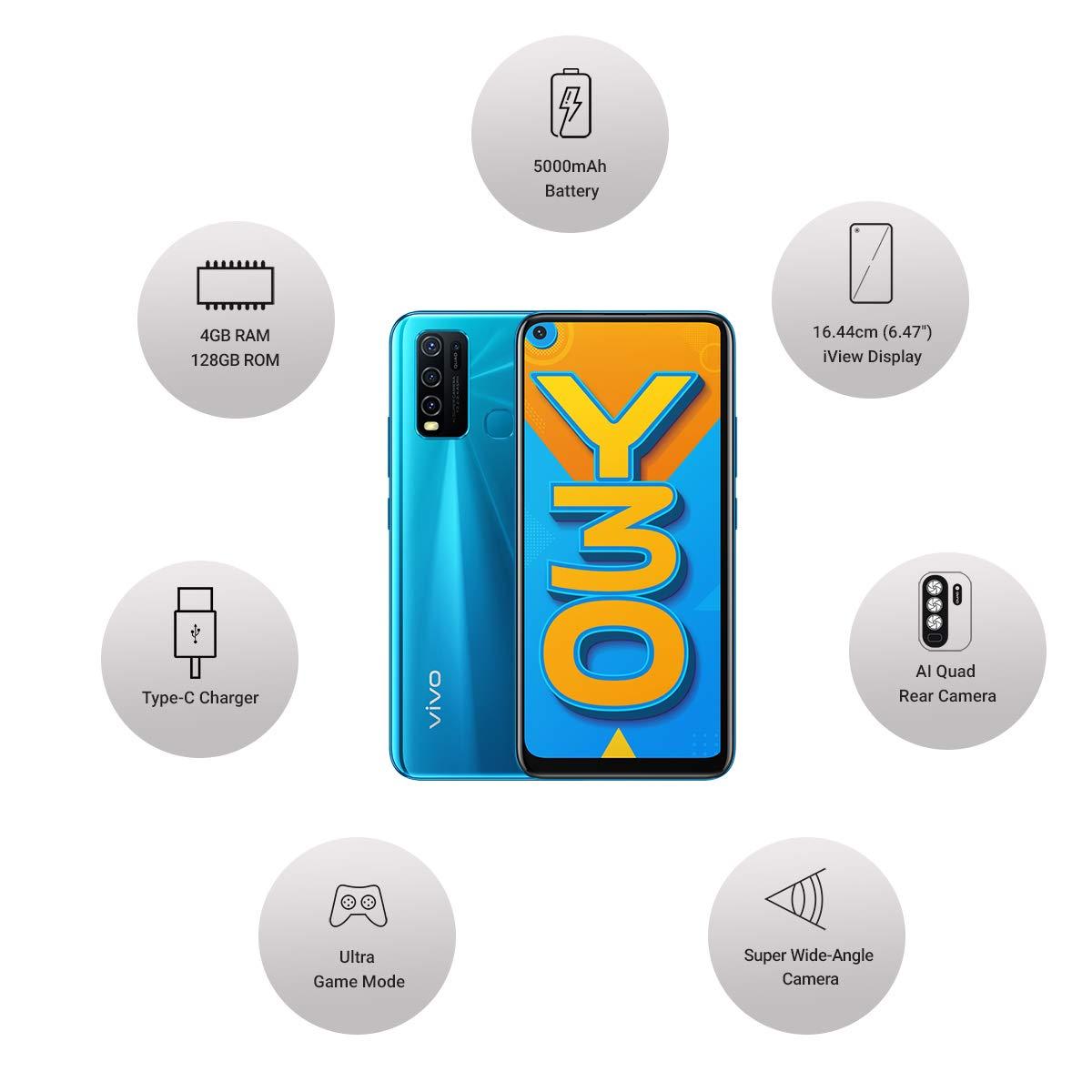 Y30 VIVO MOBILE  4|128 - Dazzle Blue