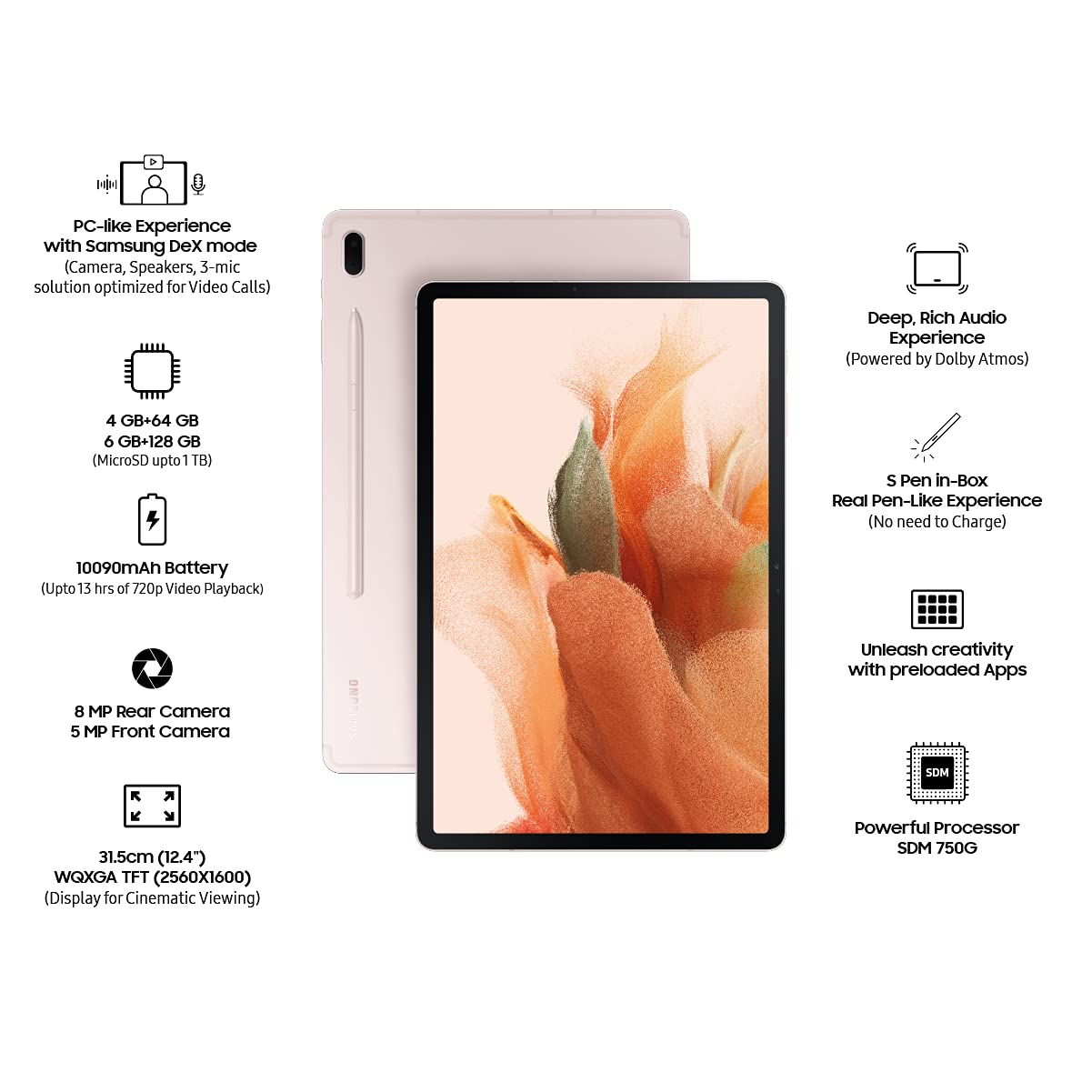 Samsung Galaxy Tab S7 FE Mystic Pink 4GB | 64GB