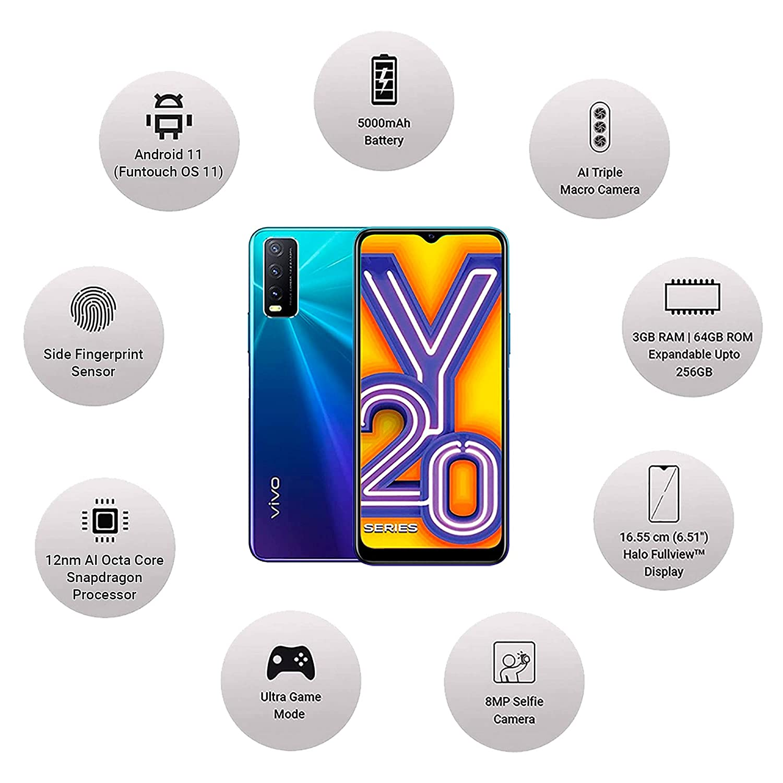 Vivo Y20 A Nebula Blue 3GB   64GB